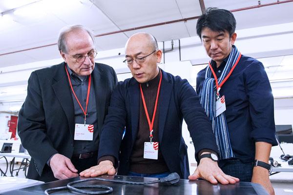 Gordon Bruce, Dr. Ken Nah and Hideshi Hamaguchi