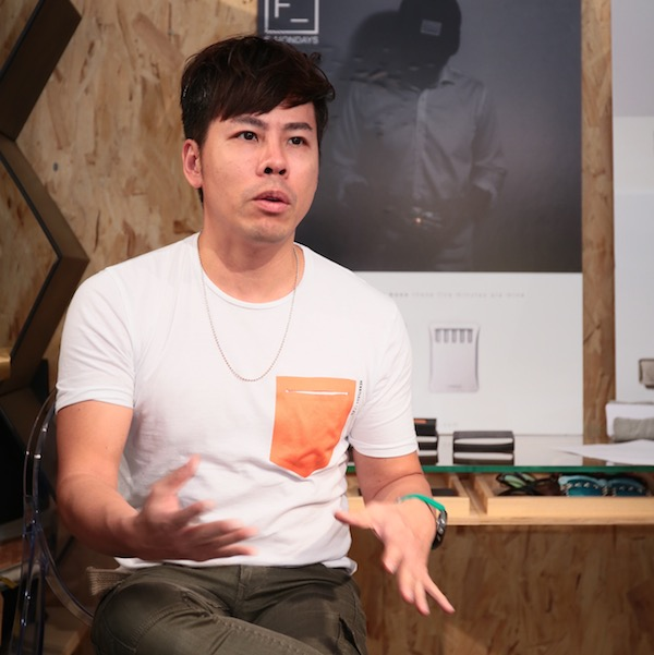 David Chiu of Aluminium at the Design 1+1 launch