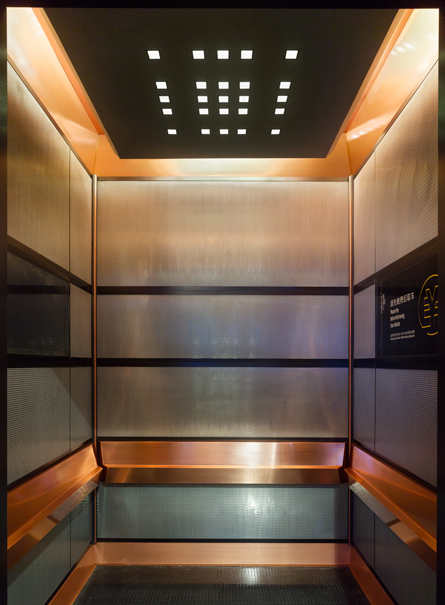 Lift interior, E.G. Giallini, Sino Ocean Taikoo Li Chengdu