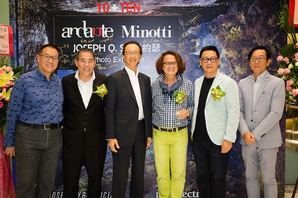 Joseph Sy, Tony Luk. Steve Leung at Andante, Minotti store HK