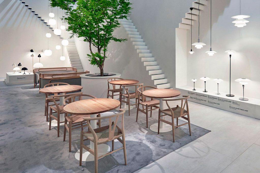 Louis Poulsen stand, designed by GamFratesi