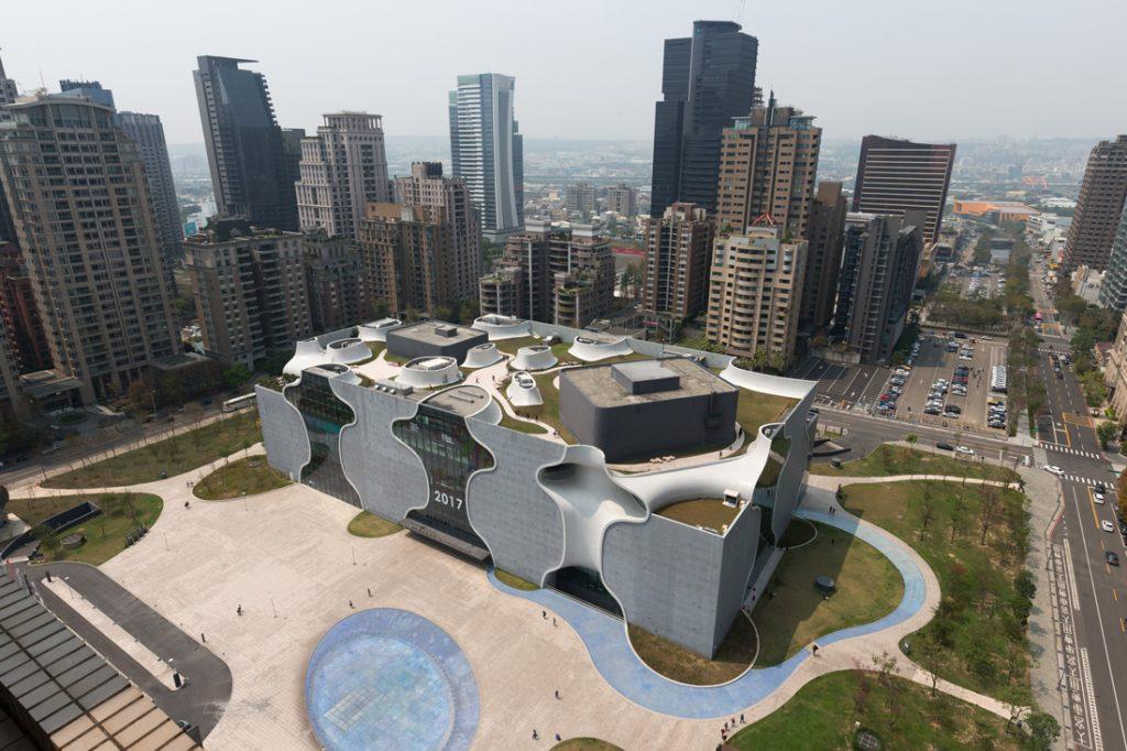 Toyo Ito National Taichung Theatre aerial view copyright Kai Nakamura