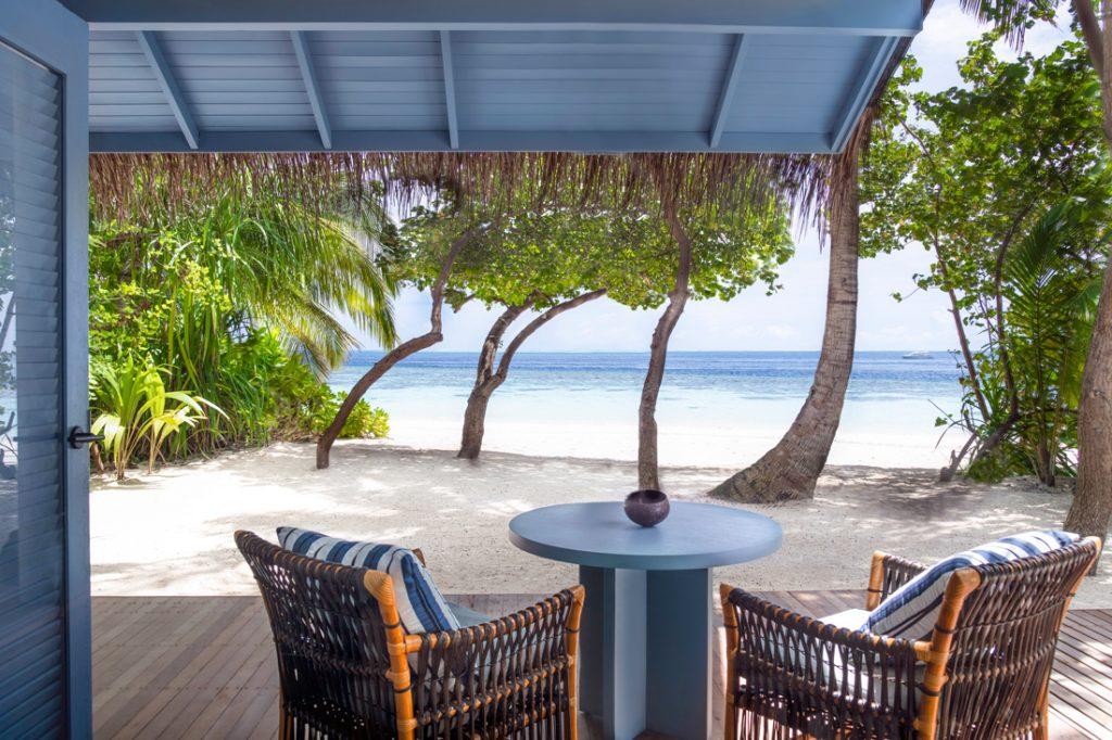 Beach Villa Exterior Terrace c Raffles Maldives Meradhoo