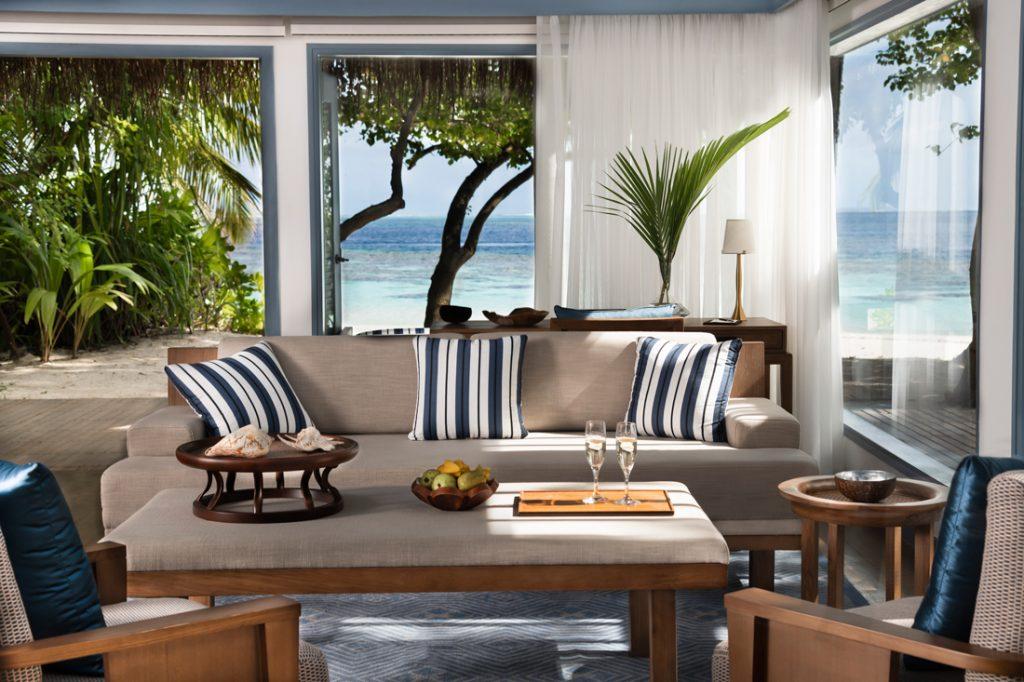 Beach Villa Living Room c Raffles Maldives Meradhoo