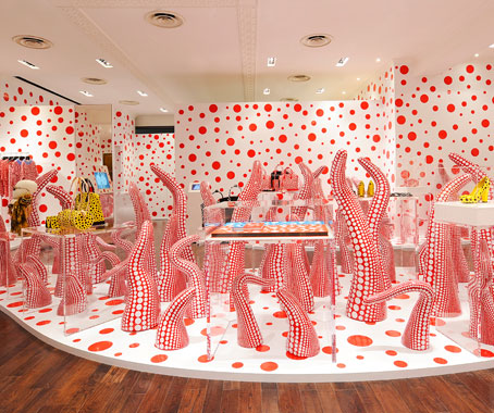 louis vuitton yayoi kusama concept store indesignlive singapore daily connection to. Black Bedroom Furniture Sets. Home Design Ideas