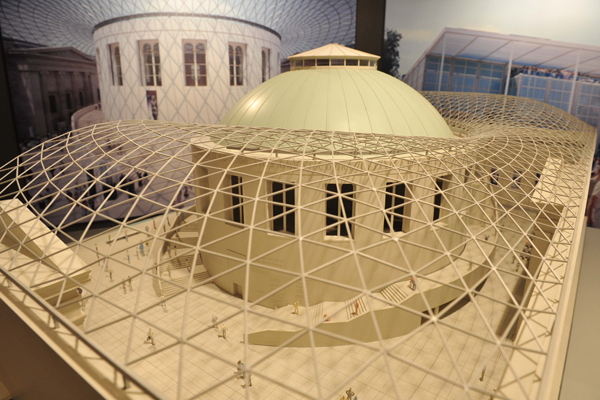 Iconic projects such as the Great Court at the British Museum are part of the exhibition