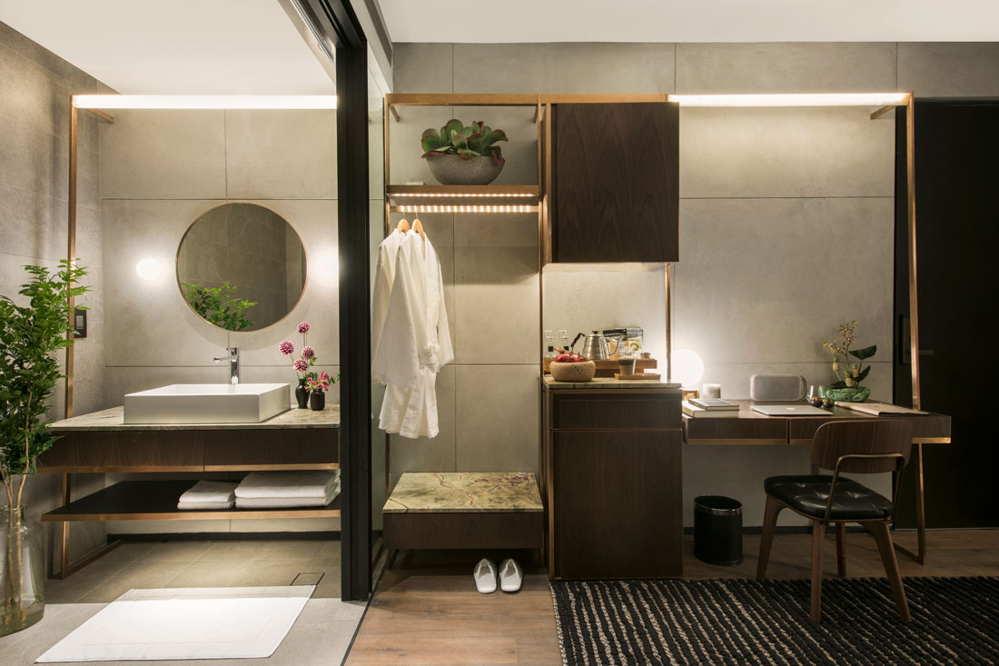 The warehouse hotel indesignlive singapore daily for Closet bathroom suites