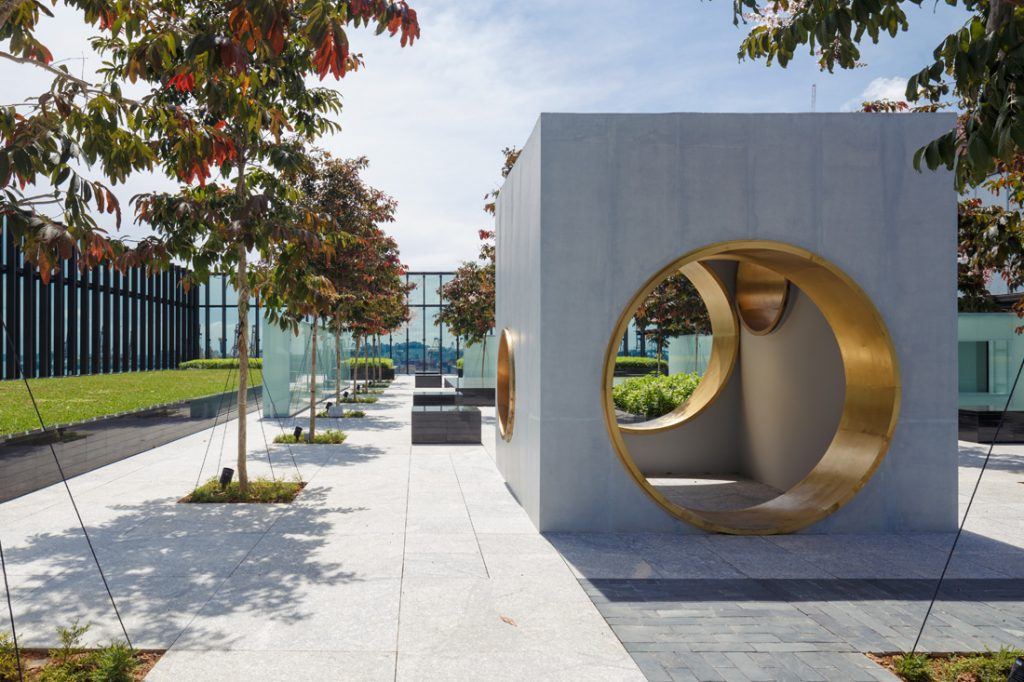 The rooftop garden at the Singapore Chinese Cultural Centre by DP Architects. Photo courtesy of DP Architects