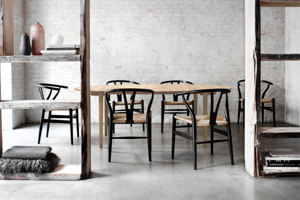 6 Wishbone Chairs For The Of 5, Black Wishbone Chairs Dining Room Set
