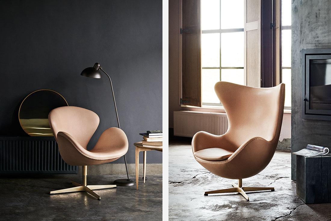 fritz hansen 39 s egg swan and drop chairs turn 60 indesignlivesg. Black Bedroom Furniture Sets. Home Design Ideas