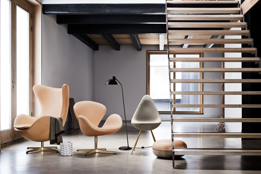 Fritz Hansen S Egg Swan And Drop Chairs Turn 60