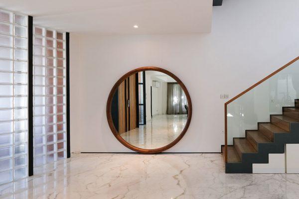 glass block house