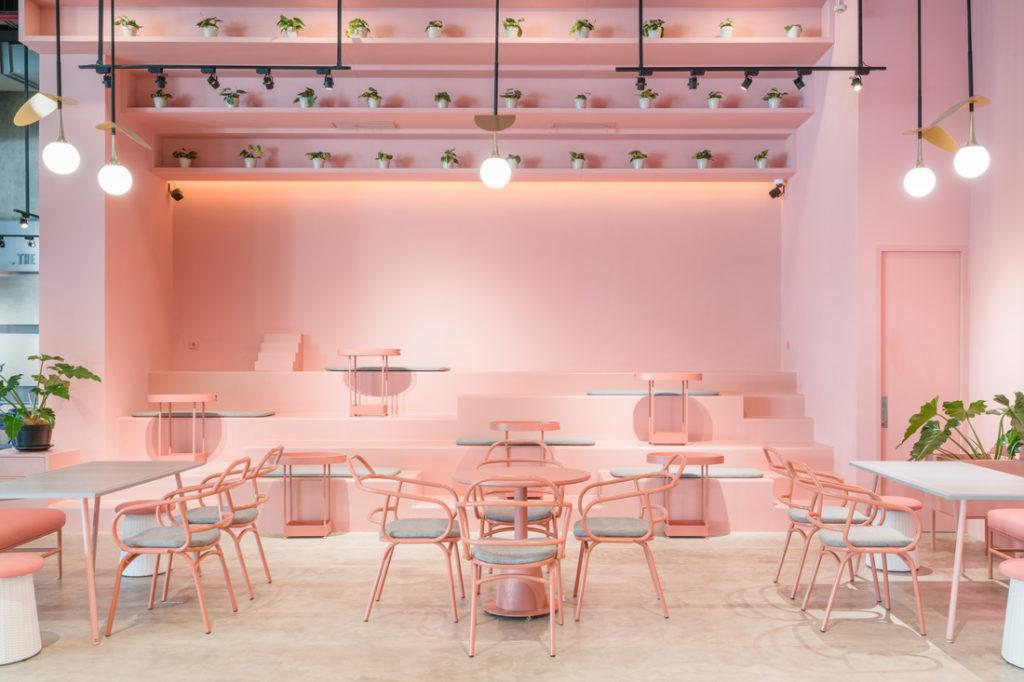 AlvinT Ottomans Coffee Pink Zone