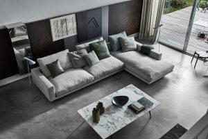 Flexform Campiello Sofa grey styled overview