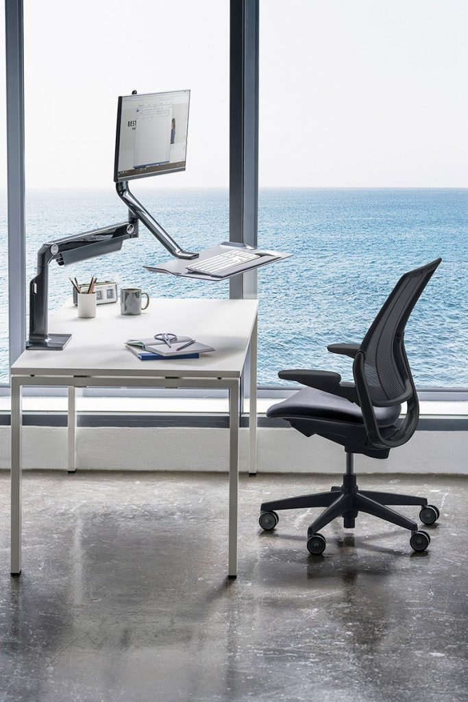 Orgatec task chairs Humanscale Smart Ocean