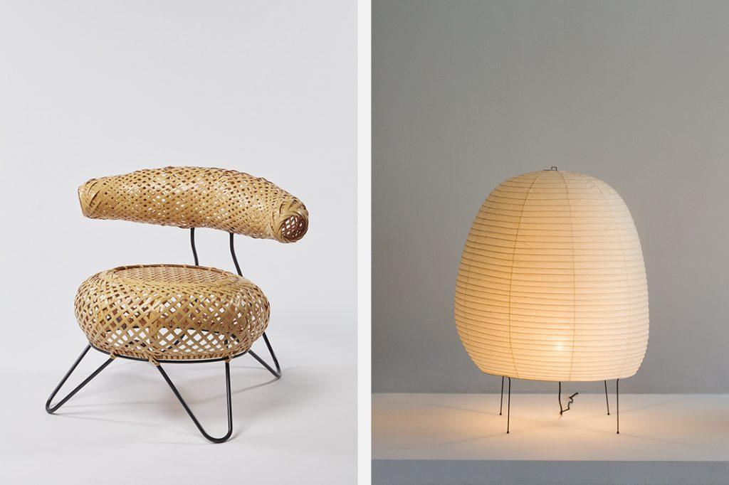 Counterpoint Noguchi Bamboo Basket Chair Akari