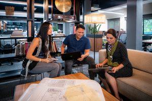Space Matrix Singapore studio unassigned seating_meeting in lounge