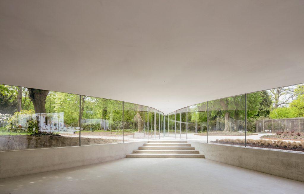 serpentine junya ishigami Park Groot Vijversburg Visitor Center, interior