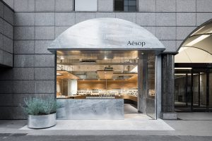 Aesop JP Store Shibuya Torafu Architects frontage