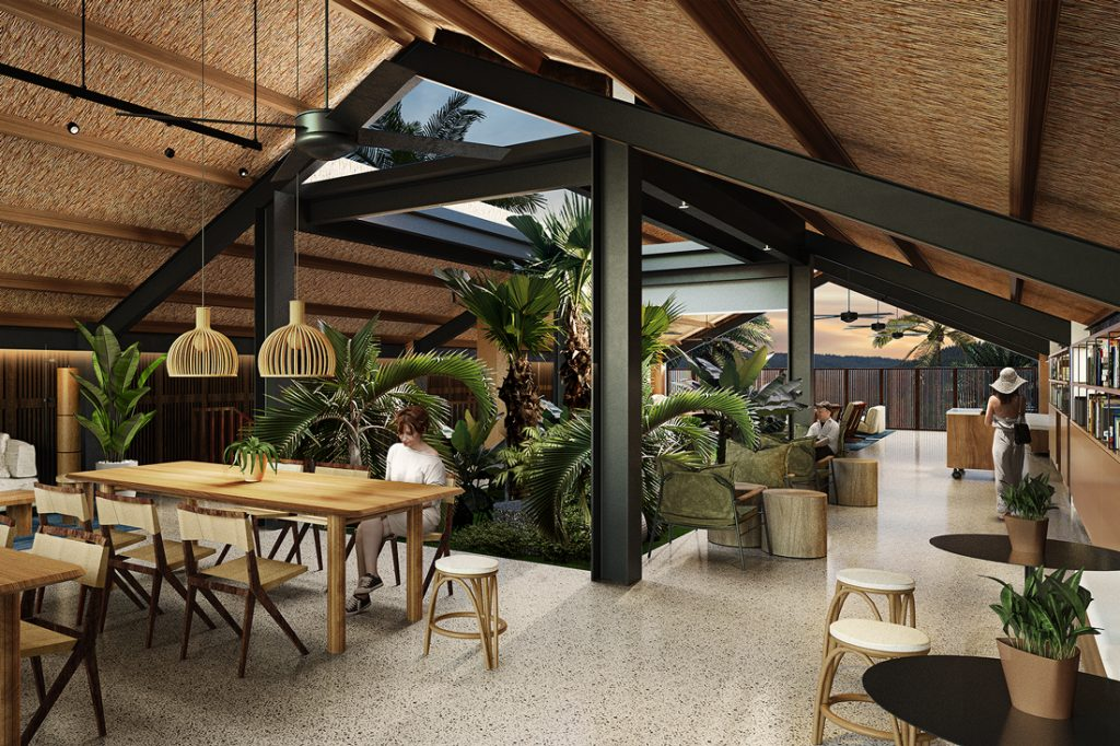 Rafael Miranti Architects, Navas Hotel, library