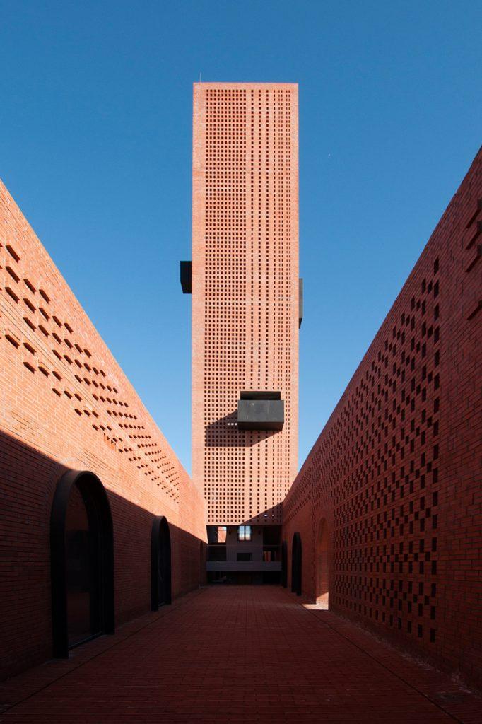 Tower of Bricks courtyard