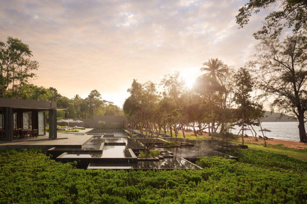 Alila-Villas-Koh-Russey-Pool-Main-Pool-Sunrise