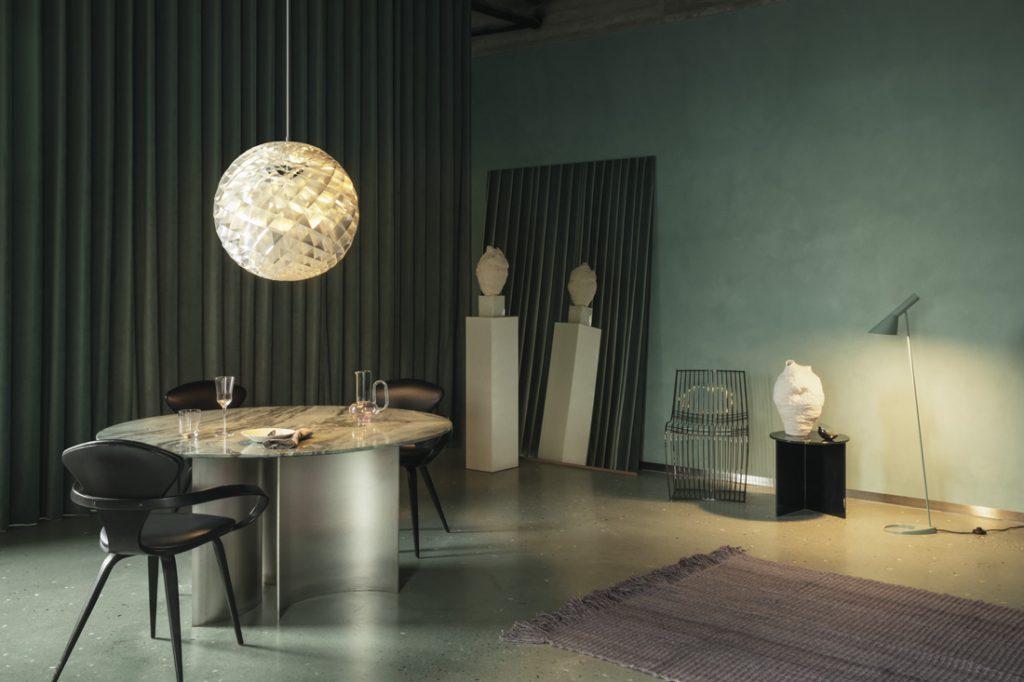 Louis Poulsen Patera Silver in home setting