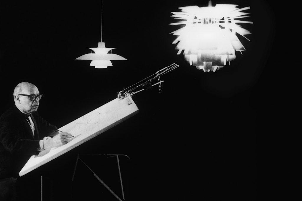 Poul Henningsen designing the Septima