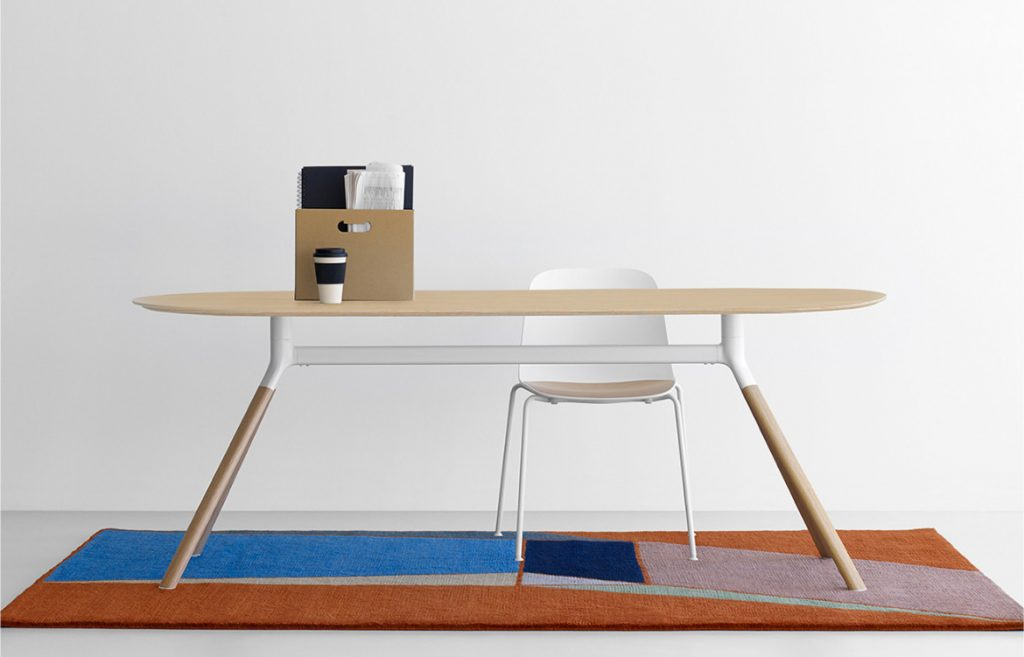 Fork White Chair with Timber Table