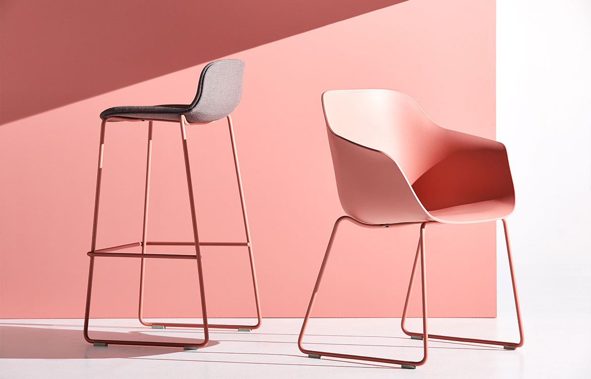 Jac Chair Range in Pink