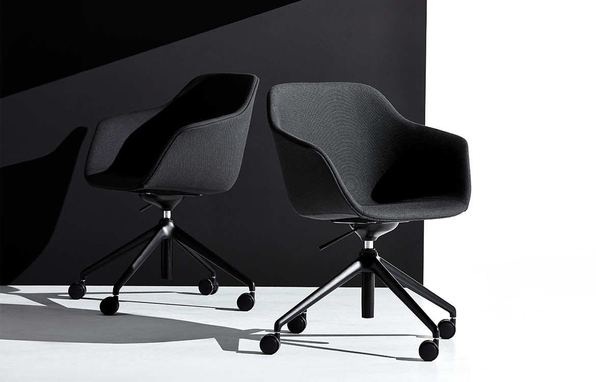Jac Roller Chair in Charcoal