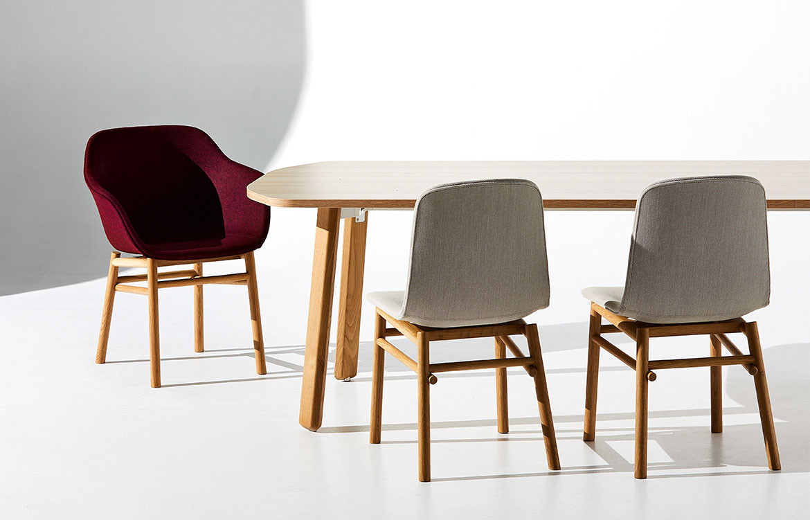 Jac Chairs Around Timber Table