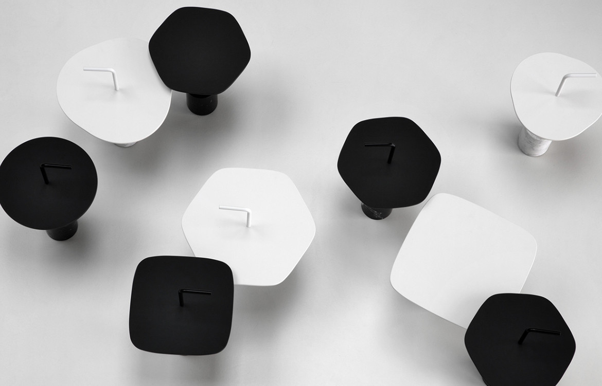 Jey Occasional Tables White and Black