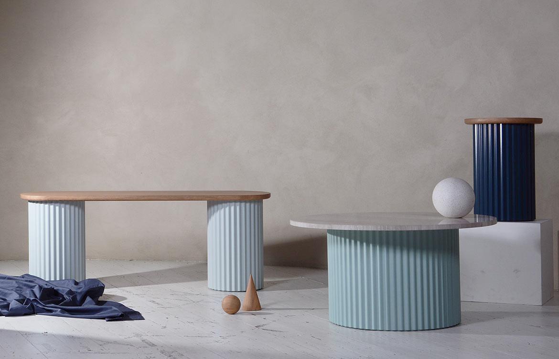 Ridge Blue White Tables