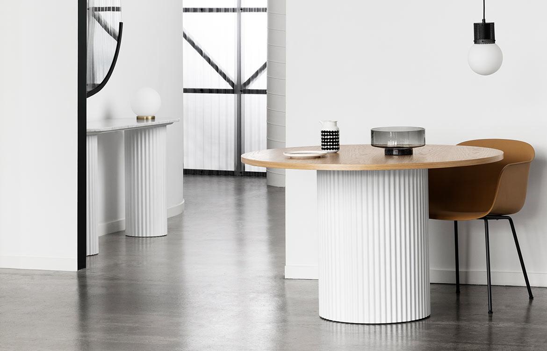 Ridge White Table Timber Top