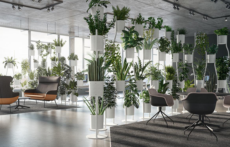 Paravert Plant Wall Office Interior