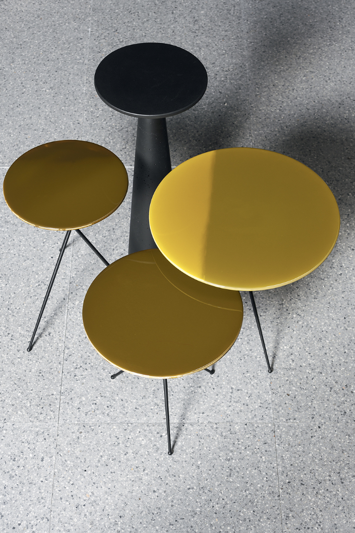 Baxter Liquid small tables from Space Furniture