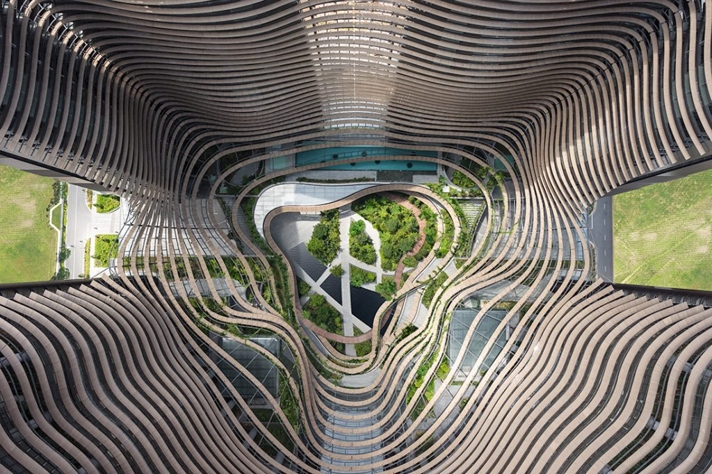 Nurture-nature-Marina-One-birds-eye-view-of-the-Green-Heart-by-Ingenhoven-Architects
