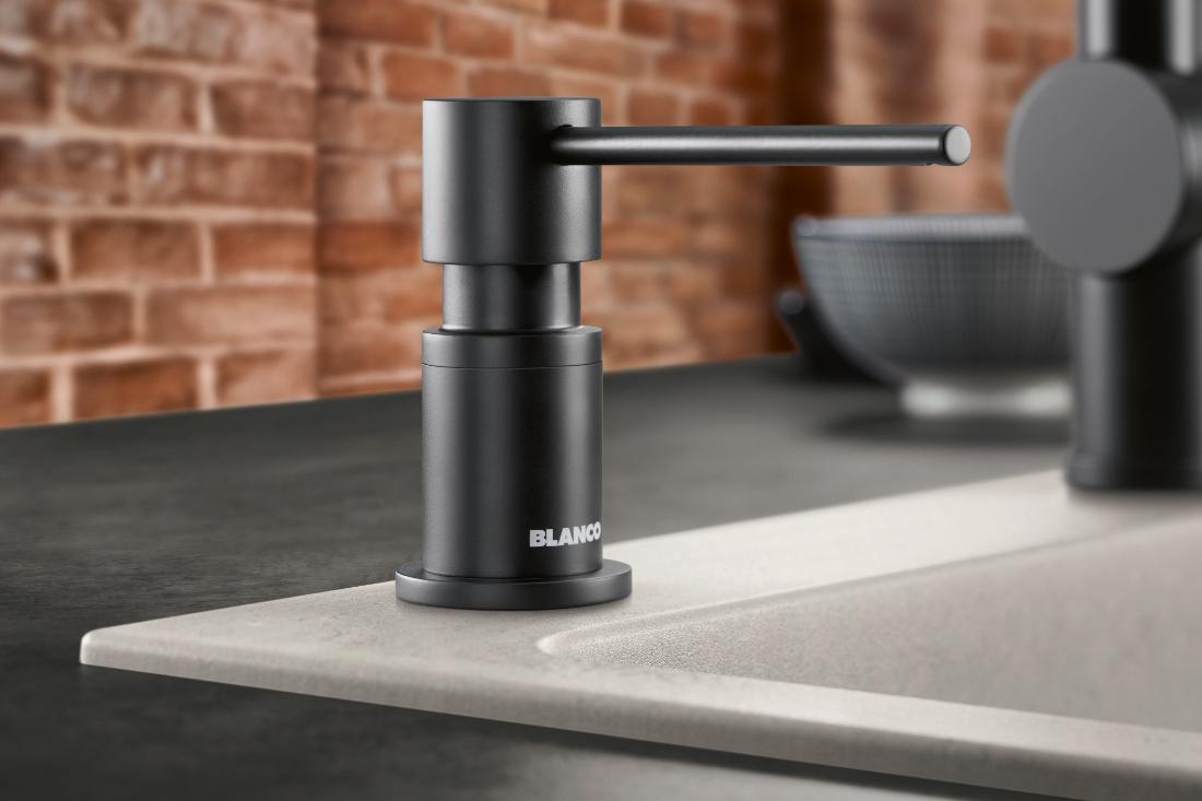BLANCO Black Edition Lato Soap Dispenser