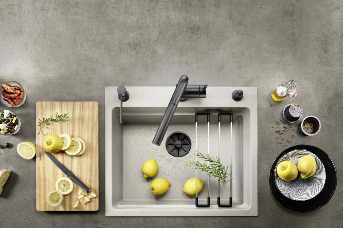 BLANCO-Black-Edition-with-a-coloured-SILGRANIT-sink