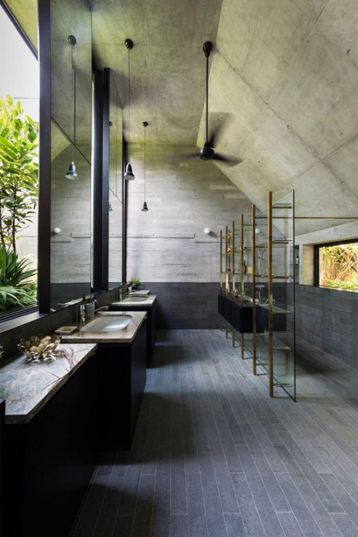 Grotto-House-concrete-by-Formwerkz-Architects-attic-master-bath