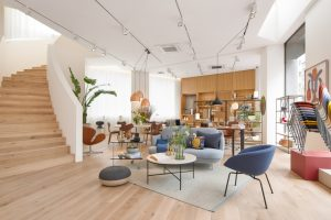Fritz-Hansen-Tokyo-showroom-in-a-building-designed-by-Kengo-Kuma-2