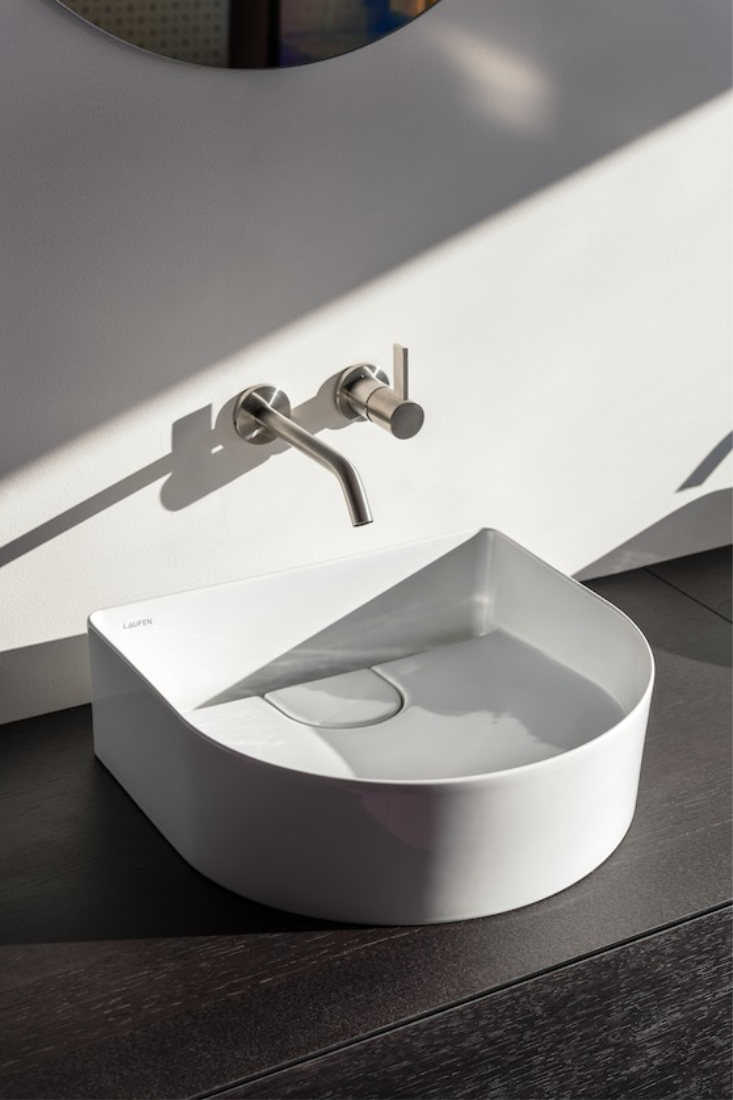 LAUFEN-Sonar-Above-Counter-Basin-410mm-x-365mm-Matte-White-4-by-Patricia-Urquiola