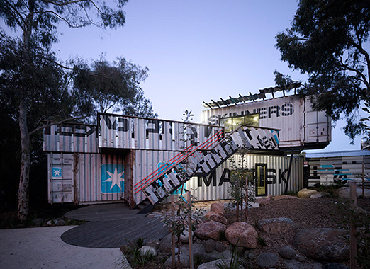 Shipping container house in sydney process