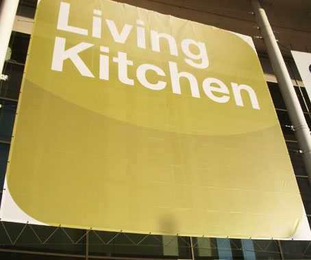 living kitchen at imm cologne indesignlive daily connection to architecture and. Black Bedroom Furniture Sets. Home Design Ideas