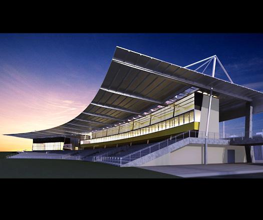 Grandstand Designs : Blacktown athletics architecture design