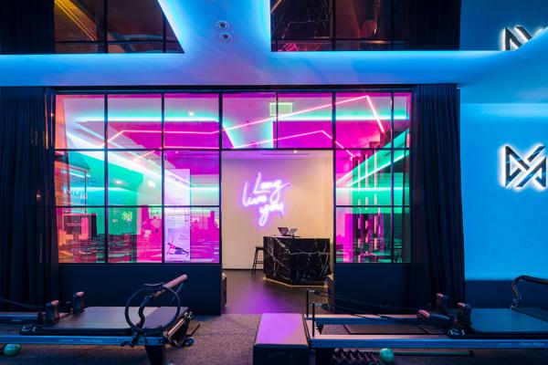 Vive Studio entrance, designed by Siren Design