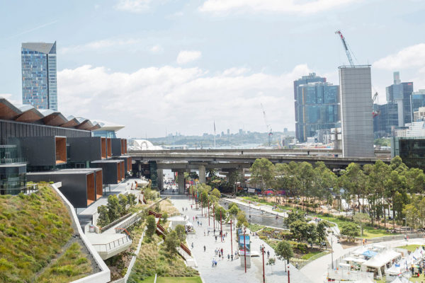 Places People Love: Arts and Built Environment is a talk as part of Sydney Design Festival. Pictured: Darling Harbour Public Realm by HASSELL.
