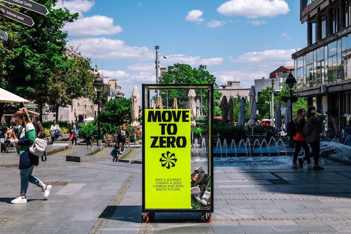 Nike and Accept & Proceed's shoe recycling stations