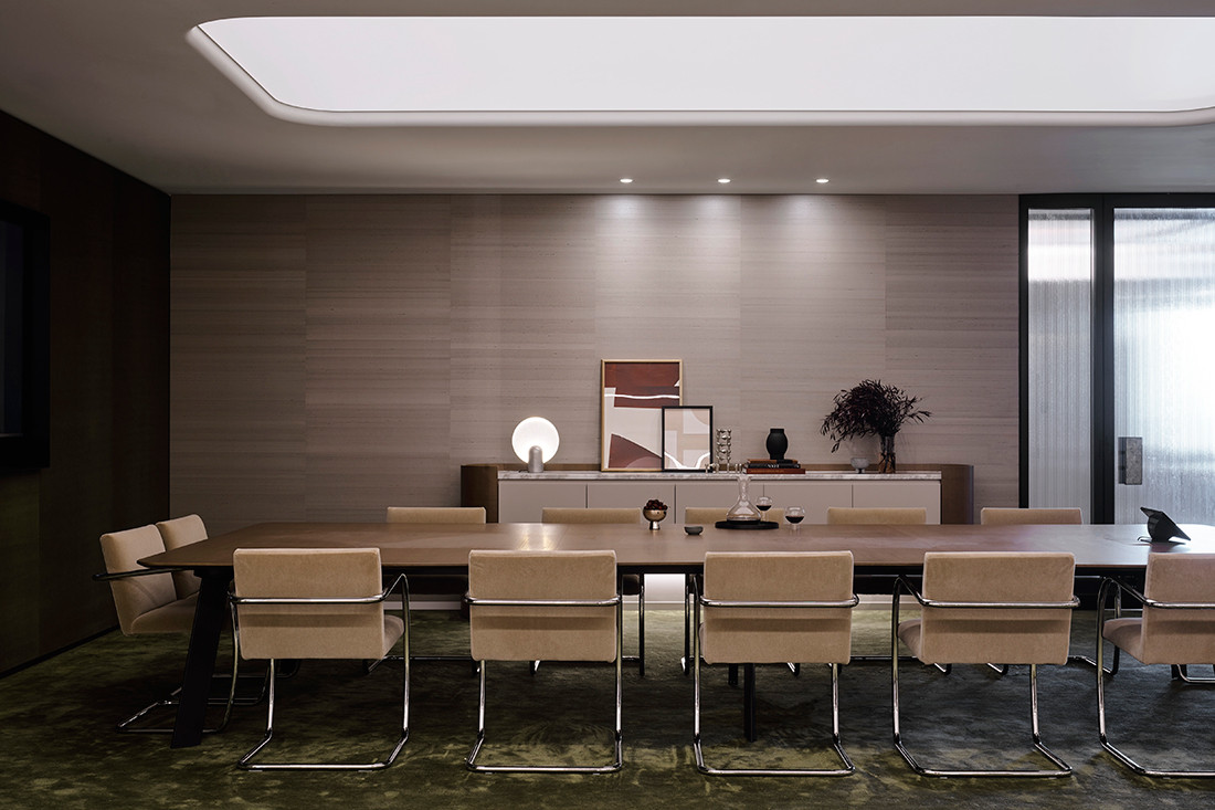 Boardroom of Banco Chambers Martin Place office fitout, designed by Bates Smart